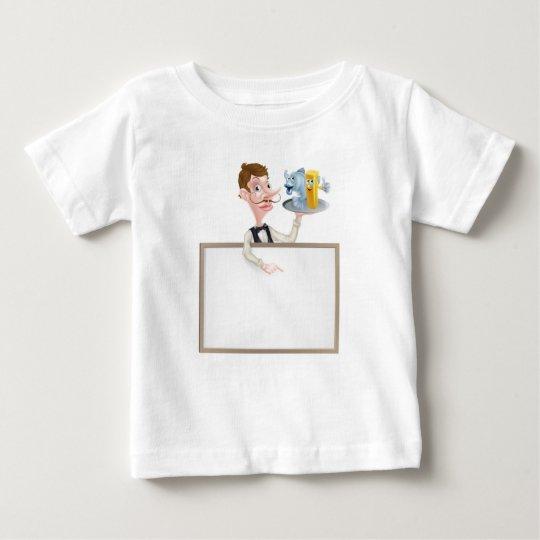 Restaurant-Schild der Fisch- und Baby T-shirt