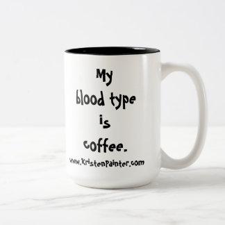 Restaurant-Tasse der Mama - Blutart Zweifarbige Tasse