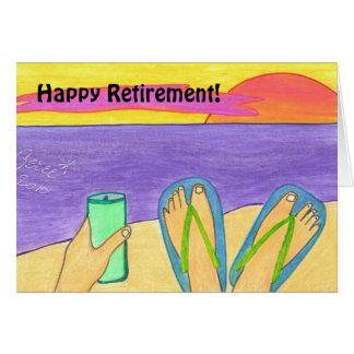 Retraite heureuse ! carte de voeux