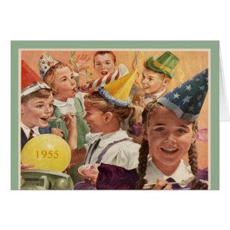 Retro 60. Geburtstags-Party-Kindheits-Erinnerungen Karte