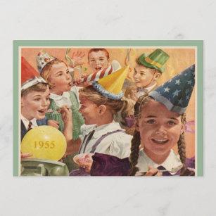 Retro 60. Geburtstagsparty 1955 Erinnerungen Einladung