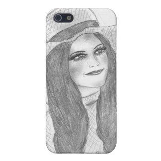 Retro 70er Hut-Mädchen iPhone 5 Case