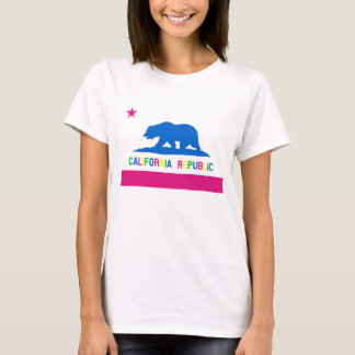 Retro 80er Art-Kalifornien-Republik-Flagge T-Shirt