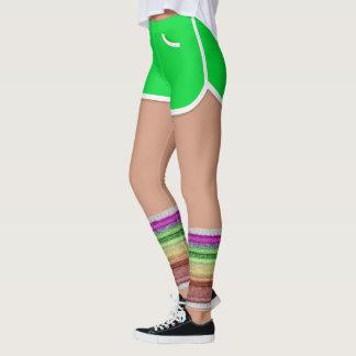 Retro 80er Bein-Wärmer grünen