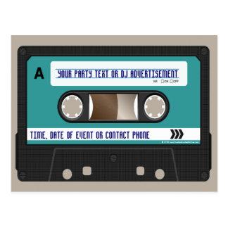 Retro 80er Kassette Mixtape personalisiert Postkarte
