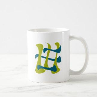retro abstrakter Strom Kaffeetasse