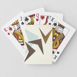 Retro abstraktes Muster-Spielkarten Spielkarte
