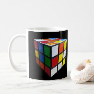 Retro Achtzigerjahre Puzzlespiel-Würfel Kaffeetasse