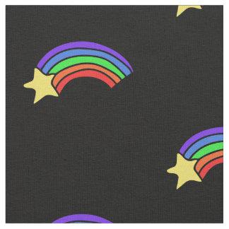 Retro Achtzigerjahre Regenbogen Stoff