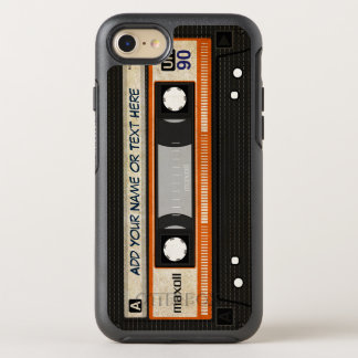Retro altmodischer 80er Mixtape Audiokassette OtterBox Symmetry iPhone 8/7 Hülle