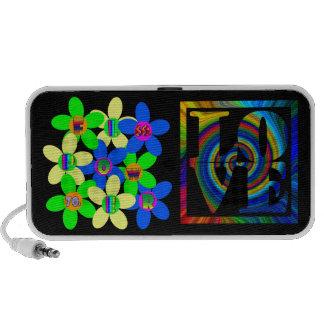 Rétro amour de flower power 60s-70s haut-parleurs iPhone