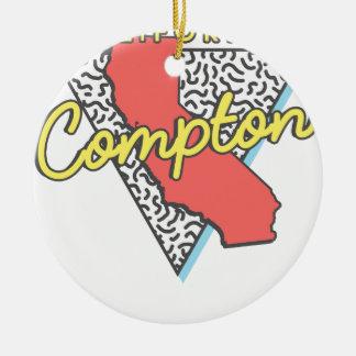 Retro Andenken Comptons Kalifornien Keramik Ornament