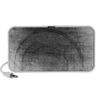 Rétro appareil-photo de photo affligé par gris haut-parleur
