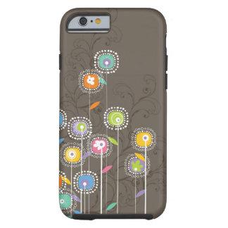 Rétro arrière - plan abstrait coloré de Brown de Coque Tough iPhone 6