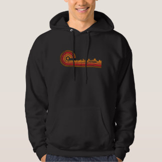 Retro Art-Anchorage-Alaska-Skyline beunruhigt Hoodie