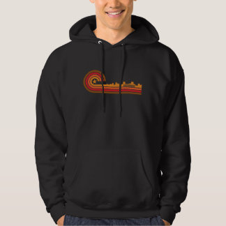 Retro Art-Anchorage-Alaska-Skyline Hoodie