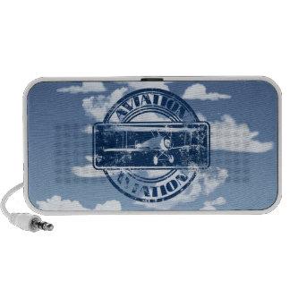 Rétro art d'aviation haut-parleurs iPhone
