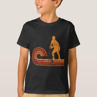 Retro Artscrum-halbes Silhouette-Rugby T-Shirt