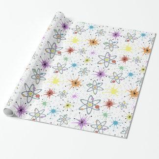 Retro Atom Geschenkpapier