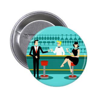 Retro Bar-Paar-Knopf Runder Button 5,7 Cm