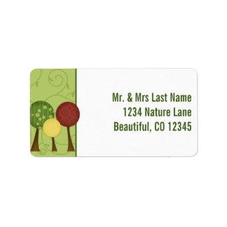 Retro Baum-Adressen-Etiketten Adressetiketten
