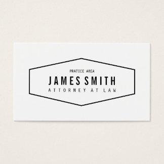 Retro beruflicher Rechtsanwalt Visitenkarte