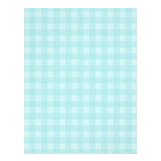 Retro blauer Gingham-karierter Muster-Hintergrund 21,6 X 27,9 Cm Flyer