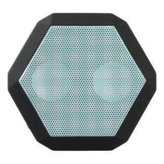 Retro blauer Gingham-karierter Muster-Hintergrund Schwarze Bluetooth Lautsprecher