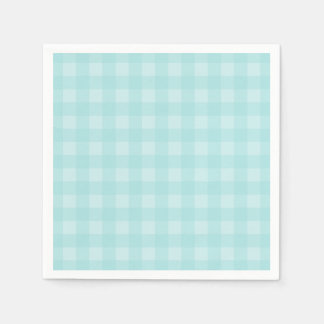 Retro blauer Gingham-karierter Muster-Hintergrund Serviette