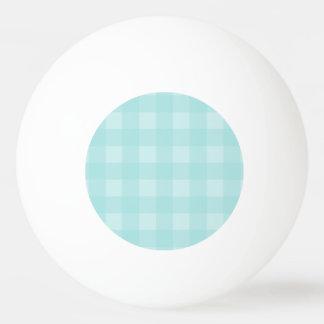 Retro blauer Gingham-karierter Muster-Hintergrund Tischtennis Ball