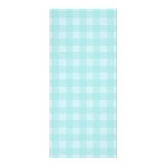 Retro blauer Gingham-karierter Muster-Hintergrund Werbekarte