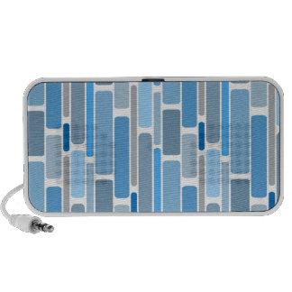 rétro bleu haut-parleurs portables