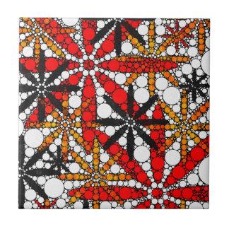 Retro Blume abstrakt Kleine Quadratische Fliese