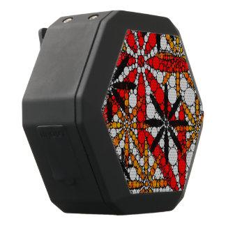 Retro Blume abstrakt Schwarze Bluetooth Lautsprecher