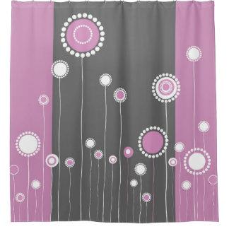 Retro Blumen-Muster Duschvorhang