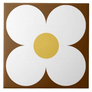 retro Blumenfliese Große Quadratische Fliese