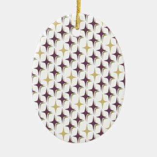 Retro Bonnie vier Punkt-Sterne Keramik Ornament