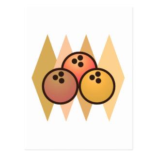 Retro Bowlings-Bälle Postkarte