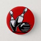 Retro Bowlings-Buttone kundengerecht Runder Button 5,1 Cm