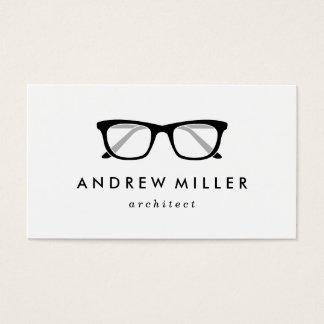 Retro Brillen-stilvolle Visitenkarte