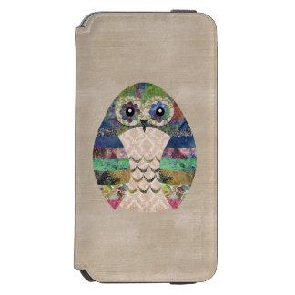 Retro bunte Eule Boho böhmische Vogel-Gewohnheit Incipio Watson™ iPhone 6 Geldbörsen Hülle