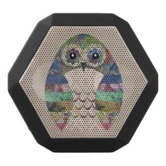 Retro bunte Eule Boho böhmische Vogel-Gewohnheit Schwarze Bluetooth Lautsprecher