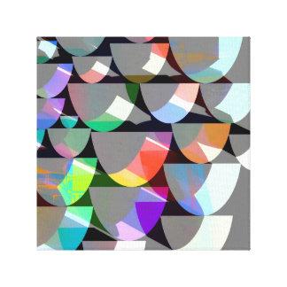 Retro bunte Form-Collage Leinwanddruck