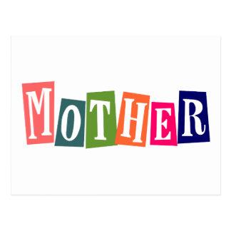 Retro bunte Mutter Postkarte