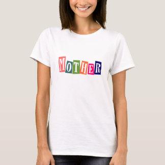 Retro bunte Mutter T-Shirt