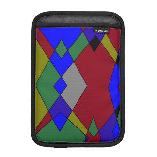 Retro bunter Diamant abstrakt Sleeve Für iPad Mini