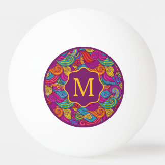 Retro bunter Juwel-Ton-Wirbles Wellen-Muster Tischtennis Ball