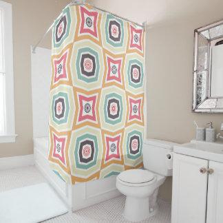 Retro bunter Muster-Duschvorhang Duschvorhang