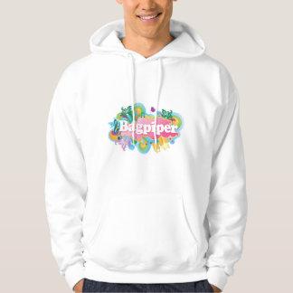 Rétro cadeau de joueur de cornemuse de musique sweatshirt à capuche