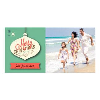Rétro carte de Noël Cartes Avec Photo